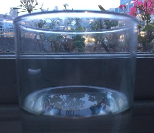 glas (half full, no wine)